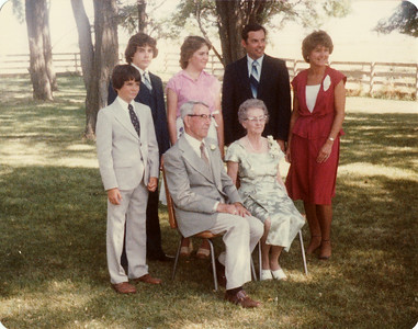 Gma and Gpa Saylor, Lowell, Margaret Davis, Margaret Joy, Andy, Joe 1980
