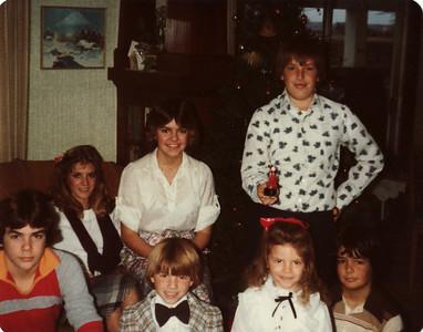 Andy, Lisa, Margaret, David, Laura, Steve, Joe Christmas Ranch 1979
