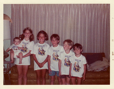 Cousins September 1973, Lisa, Steven, David, Margaret Joy, Andy, Joe