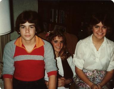 Andy, Lisa, Margaret Christmas Ranch 1979