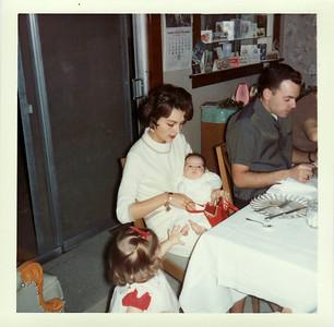 Lisa, Margaret, Gayle, Lowell Christmas 1964