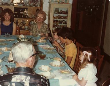 Margaret, Gma and Gpa Saylor, David, Joe, Laura Ranch 1979