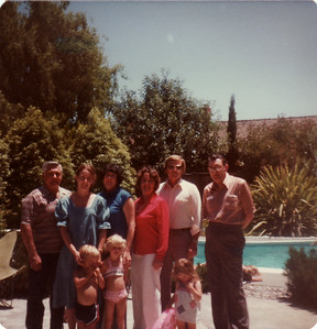 Ralph, Sandi, Donna, Mom, Dad, Eldon, Mark, Sunny, Laura July 1978