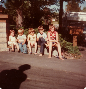 Laura, Mark, David, Matthew, Steven July 1978