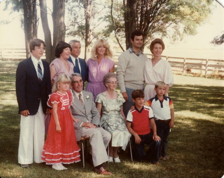 Gma and Gpa Saylor, Craig, Donna, Ralph, Vicky, John, Sandi, Sunny, Matthew, Mark 1980
