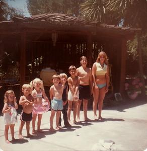 Laura, Mark, Sunny, David, Marshall, Matthew, Steven, Lisa July 1978