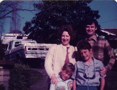 Sandi, John, Mark and Matthew Christmas 1982