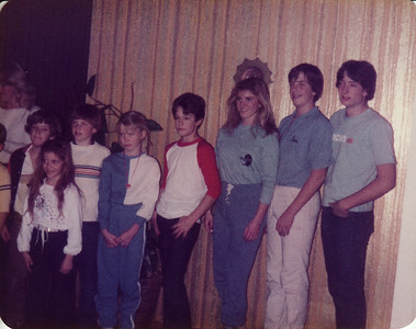 Marshall, Laura, David, Sunny, Matthew, Lisa, Steven, Craig at Donna's Christmas 1982