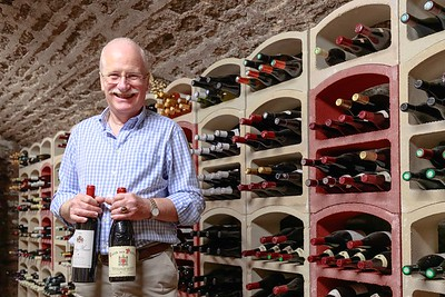 Peter Morgan in his man cave, Burgundy