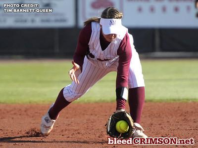 Teresa Conrad (10) fields a ball<br /> <br /> Photo Credit: Tim Barnett-Queen
