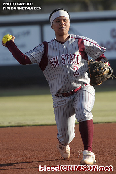 Shaleese Javillo (2) throws a ball to first<br /> <br /> Photo Credit: Tim Barnett-Queen