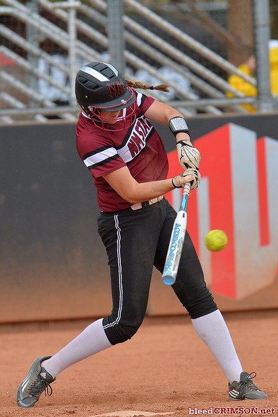 March 6, 2016: NM State first baseman Kelsey Horton (17) gets a hit in a game between New Mexico State and No. 7 Oregon at the 2016 Alexis Park Resort Classic at Eller Media Stadium in Las Vegas, Nevada. The Aggies lost to the Ducks 8-0 via run rule.