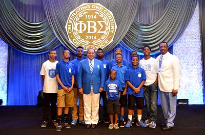 Some of the TriSigma Chapter Sigma Betas with our past International Presidents Bros. Carter D. Womack and Arthur R. Thomas Esq.