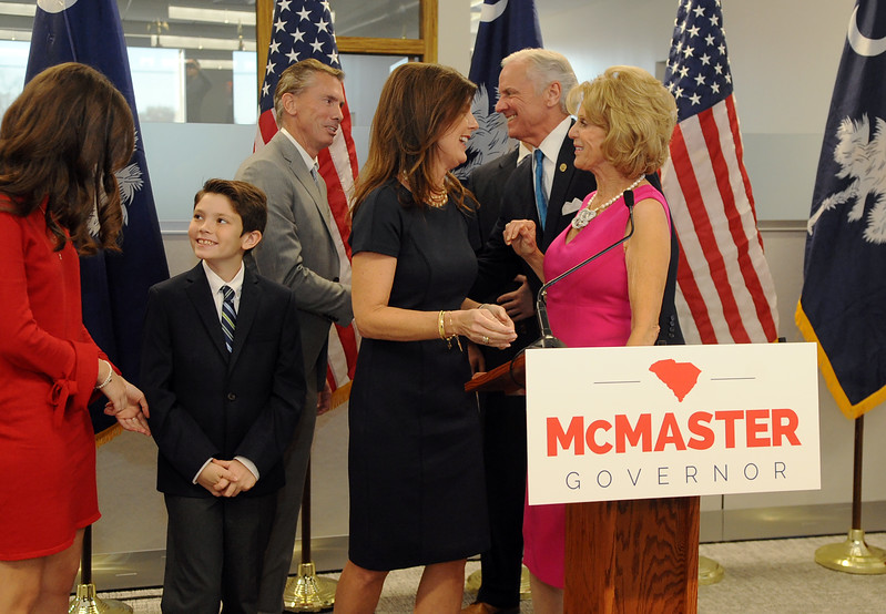 Henry McMaster and Pamela Evette In Greenville