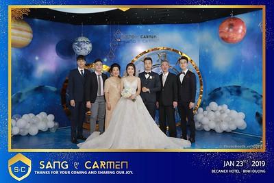 Sang & Carmen Wedding Photobooth in Becamex Hotel New City Binh Dương - Chụp ảnh in hình lấy liền Tiệc cưới tại Khách sạn Becamex Thành phố mới Bình Dương