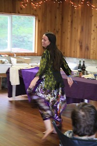 "and our model ""River"" twirls, displaying the lovely shirt"