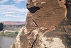 Pictographs on east end of mesa in middle of the bend of the Green River at Anderson Bottom.