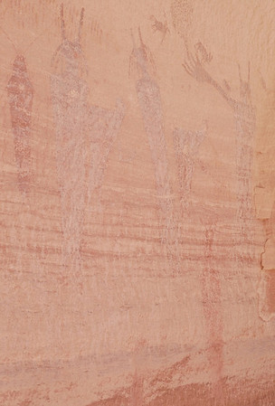 Anasazi pictographs in the Maze, Hans Flat Ranger District, Canyonlands National Park.  The pictographs in the Maze