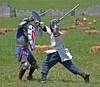 Pennsic XXXVII - The first Saturday : More spars, hound coursing, left-handed tourney, pole arm tourney and Khafif.