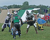 Pennsic XXXVII - Tuesday : Bog Troopers preparing for woods battle, A&S exhibition, Rapier Champions battle and melee pickups.