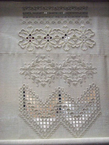 Whitework and cutwork by Gabrielle Sendel