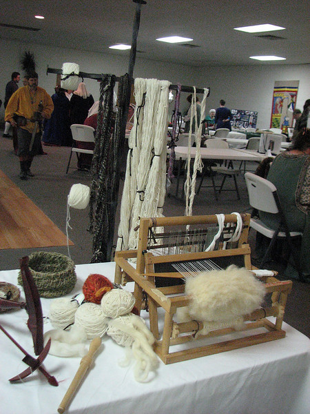 Info needed for this display.  I believe this was the team entry for the Chain of Supply, with the carded, woven, and dyed wool and silk.