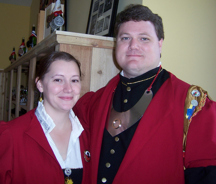 Defending the Gate:  Closeup (without glasses). Yup, still a cute couple. Stierbach Investiture 2008