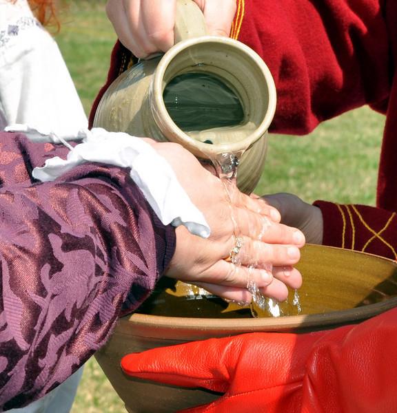 Rhonwen's hand washing ceremony
