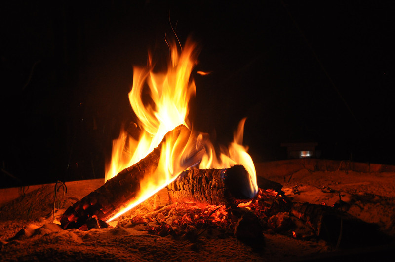 And we roasted a lot of marshmallows in that fire.