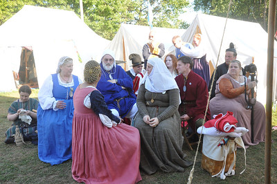 Ii and Abe Pelican and West Kingdom Court-Pennsic