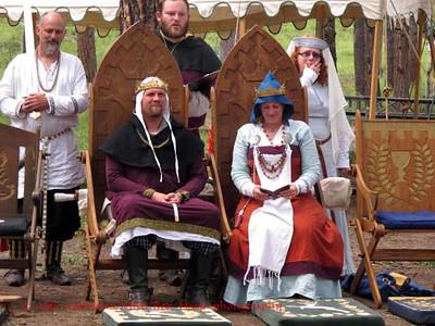 King Walrick and Queen Cecelia open evening Court