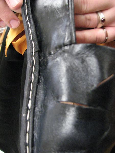 James de Biblesworth.  Shoes (detail).