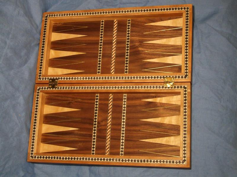 Tabula/chess board.  Geoffrey ap Clwyd.