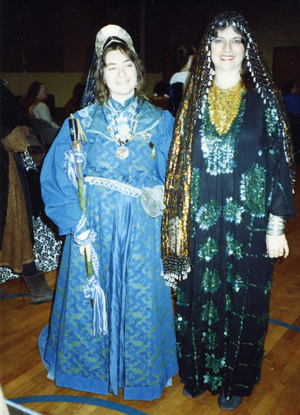 Two ladies at the Lakewood Ren Fair, 1989