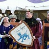 Gregor and Kiena awarding the shield of Chivalry