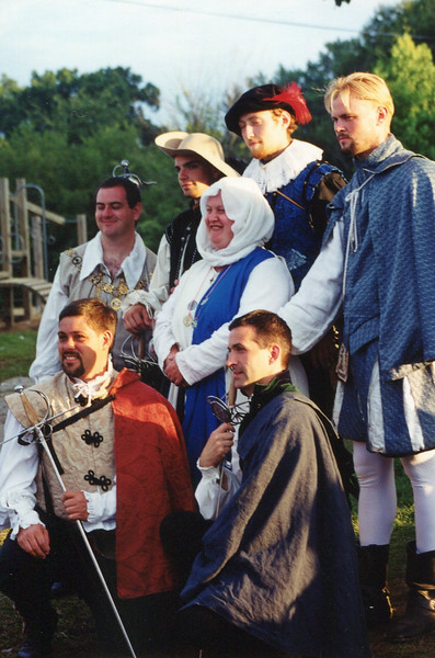 Rose wanted Handsome Men to accompany her into court for her elevation.  The young fencers of Sharp Pit Obliged.
