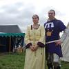 HRH Marguerite and HRH Edward of the East Kingdom, camping in the West Kingdom encampment at Estrella.