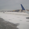 The runway in Anchorage. Sort of scary, landing on all that blowing snow!