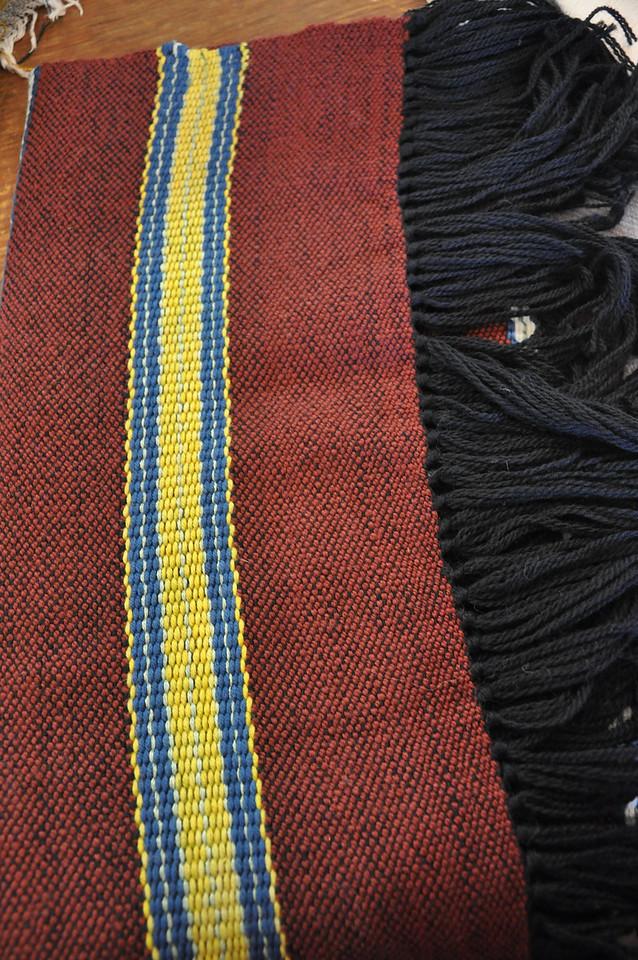 Alesandra di Vinizia's weaving display
