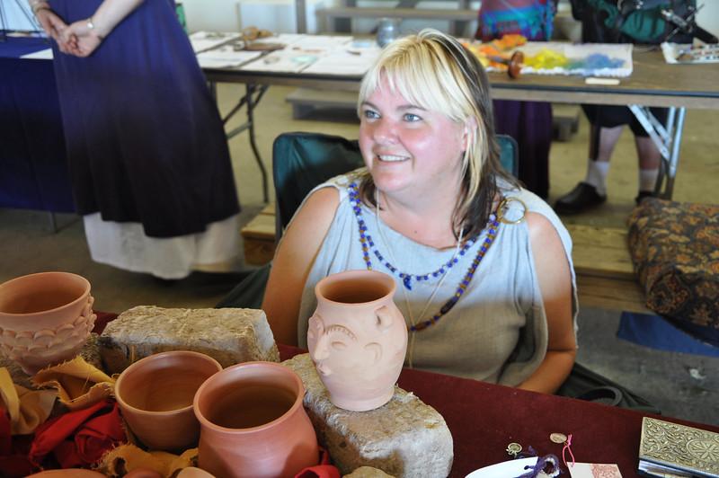 Etaine de Sutherland's Roman pottery display