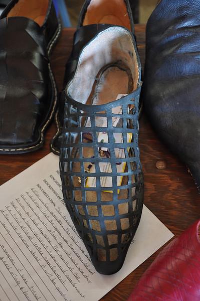Baron James de Biblesworth's shoe and leather display