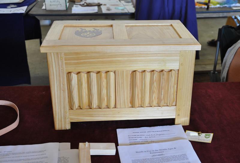 Kirk Dragomani's woodworking display