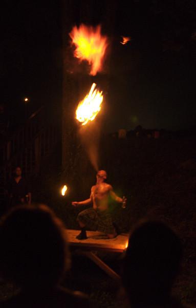 Pennsic 36, Pyro Party at House Gawain, fireball
