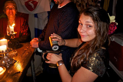 Pennsic 42 Sammie serves her first drink at the Chalkman