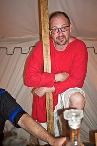 Pennsic 42 hanging out with the quebecois on setup day. It's a mistake