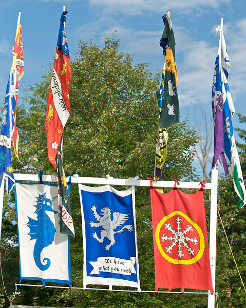 Award Winning Banners (Best Heraldic Display). Pennsic 38, Lusty Wench Tavern