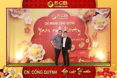 SCB Cong Quynh Year End Party instant print photobooth | Chụp ảnh in hình lấy liền tiệc Tất niên Ngân hàng Sài gòn