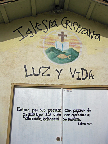 The Front Door of Luz y Vida Christian Church in Ensenada, Mexico