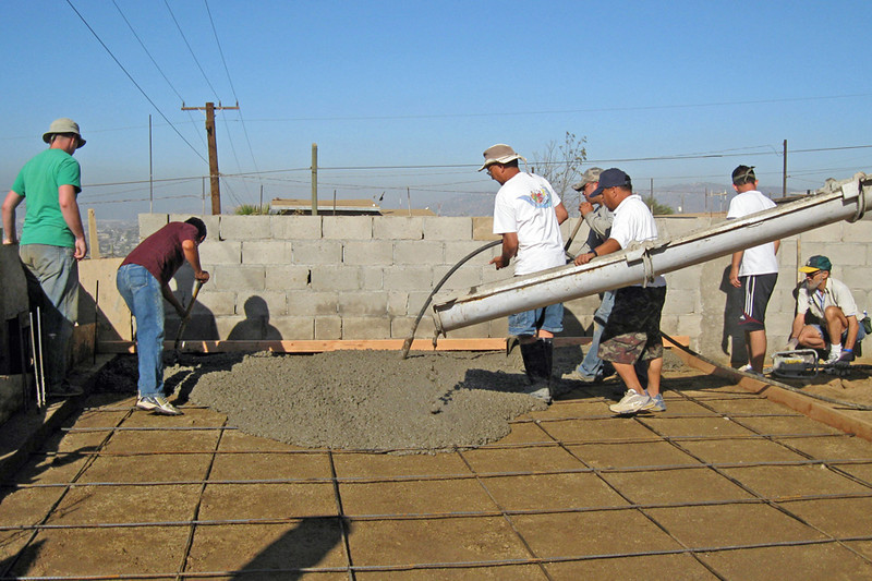 The 1st Pour of the Concrete Slab in Ensenada