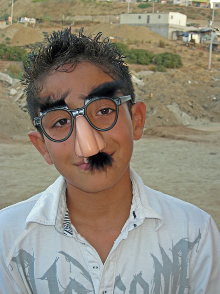 "Cristian as ""Groucho Gaucho"""